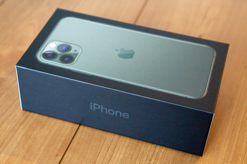 iPhone 11 Proの化粧箱