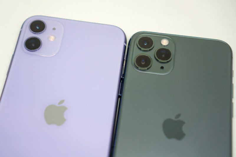 iPhone 11と11 Proの比較(カメラ)