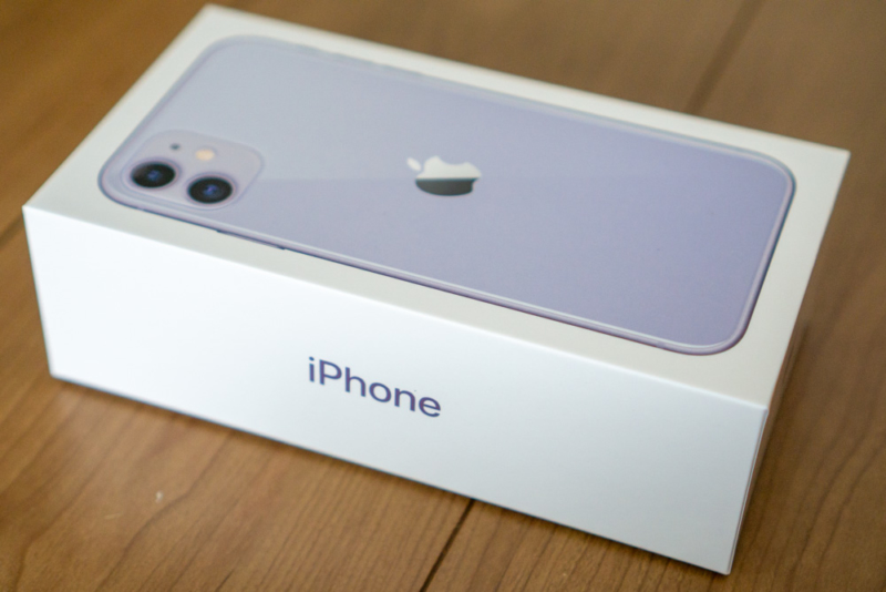 iPhone 11 パープルパッケージ
