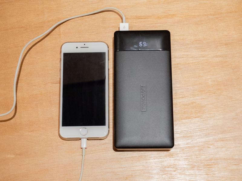 RAVPowerRP-PB172でiPhone7を充電