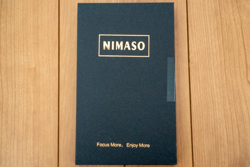 Nimaso「iPhone 11 Pro用 全面保護フィルムガイド枠付き(フルカバー)」パッケージ