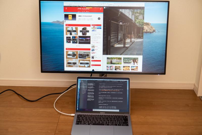 MacとディスプレイをThunderbolt 3一本で接続