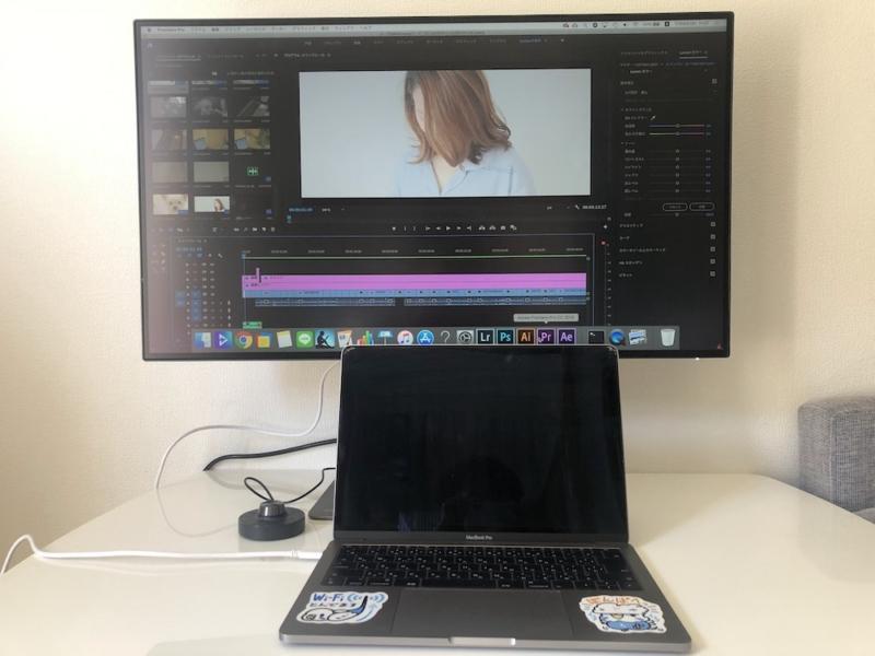BenQ「PD3220U」設置イメージ