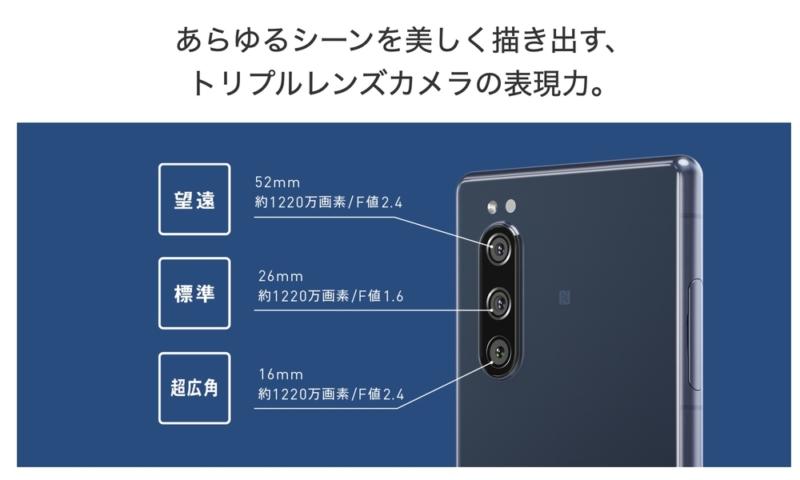 Xperia 5はトリプルカメラ