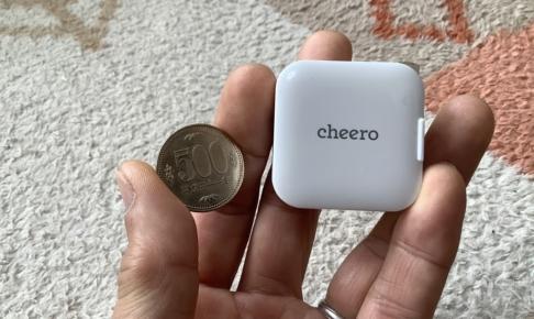 cheero「USB-C PD Charger 18w mini(CHE-329)」レビュー500円硬貨との比較