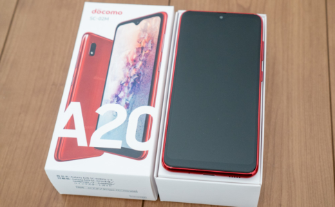 Galaxy A20 SC-02Mレビュー