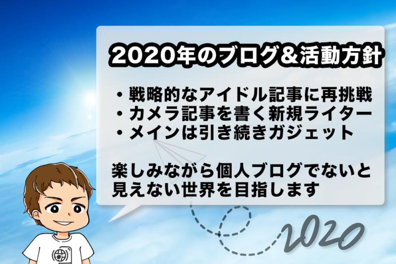2020年のブログ運営方針