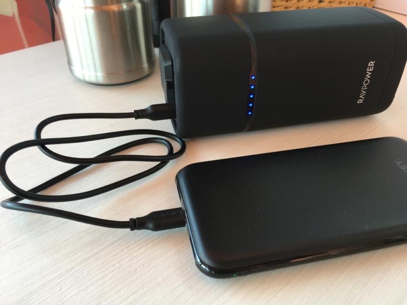 モバイルバッテリー充電