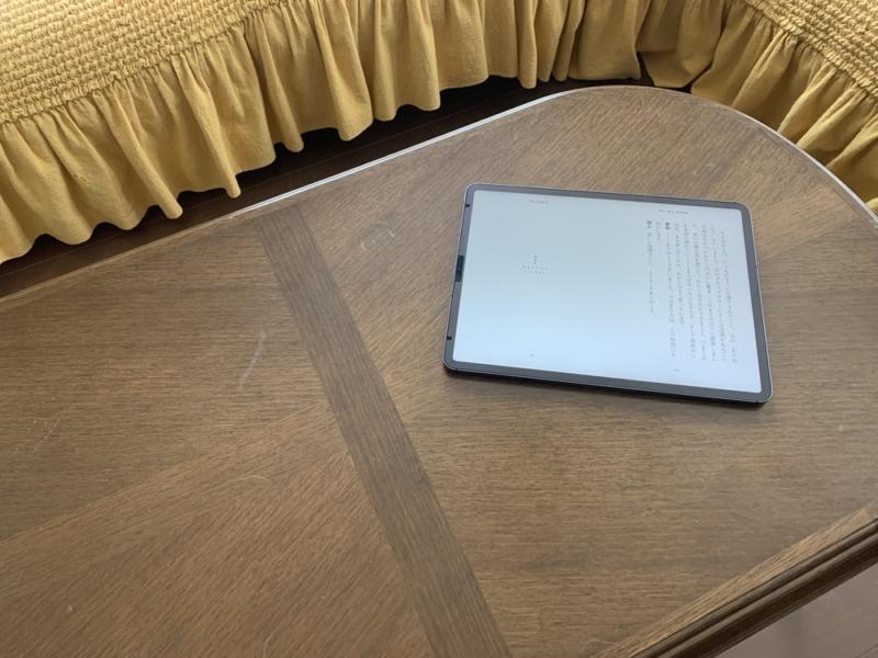 読書する時にはiPad単体でソファへ