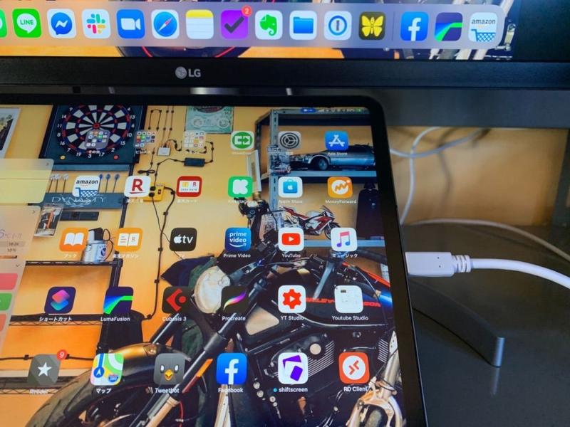 iPadとディスプレイを接続
