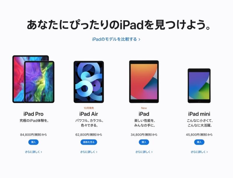iPadラインアップ