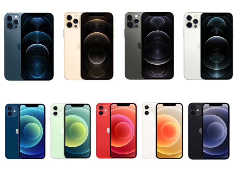 iPhone 12シリーズカラーバリエーション