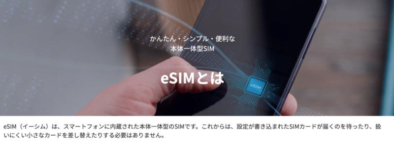 eSIMとは