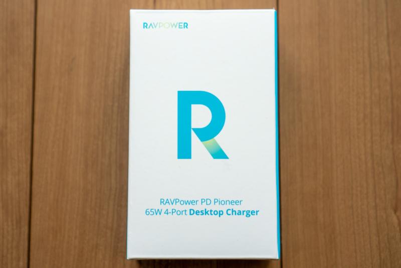 RAVPower「65W USB-PD対応 4ポート充電器 RP-PC136」パッケージ