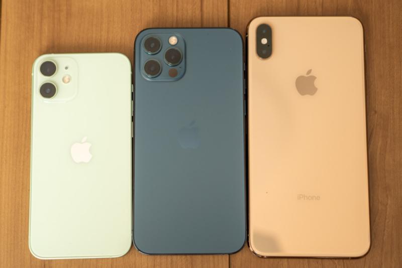 iPhone X系サイズ比較