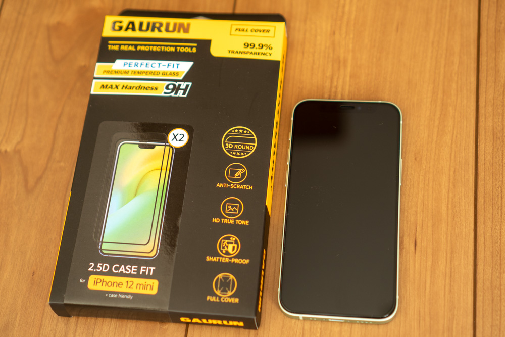 GAURUN iPhone 12・12 Pro 用 ガラスフィルム