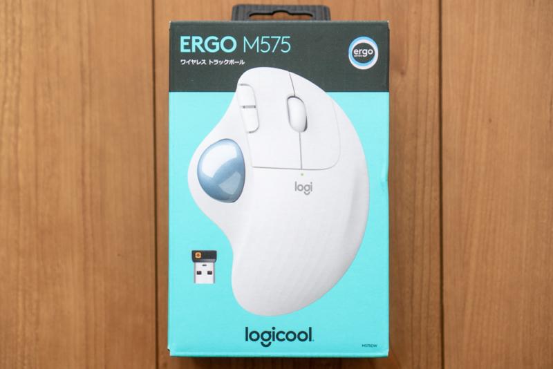 Logicool「ERGO M575ワイヤレス トラックボール」パッケージ