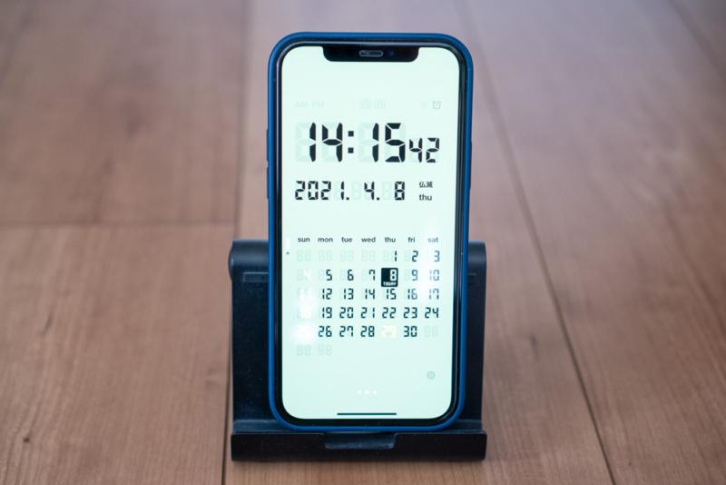 iPhoneを置き時計に