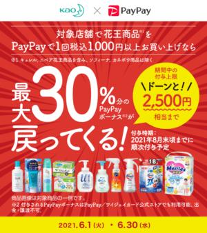 第3弾!花王商品の購入で最大30%戻ってくるキャンペーン